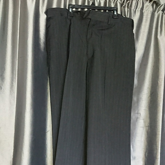 NEW Pinstripe pants 34x30 women flat front slacks